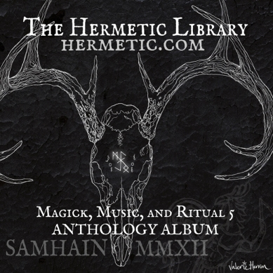 Cover for Magick, Music, and Ritual 5 Anthology Album.Illustration and Design© Valerie Herron