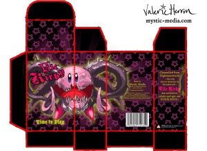 Vile Kirby box packaging, digital media© Valerie Herron 2013