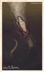 Plate 5: Crocodile drowns Prey. Valerie Herron, 2014