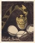 Plate 7: Rat Snake raids Nest. Valerie Herron, 2014
